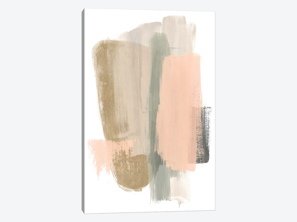 Blush Abstract VII 1-piece Canvas Art Print