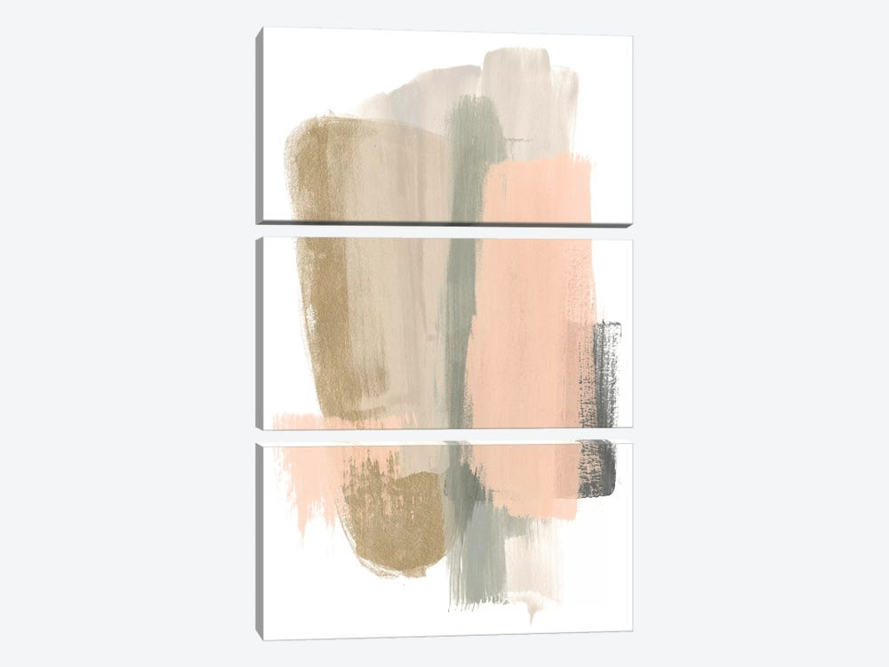 Blush Abstract VII 3-piece Canvas Art Print