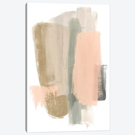Blush Abstract VII 3-Piece Canvas #JEV1476} by June Erica Vess Art Print