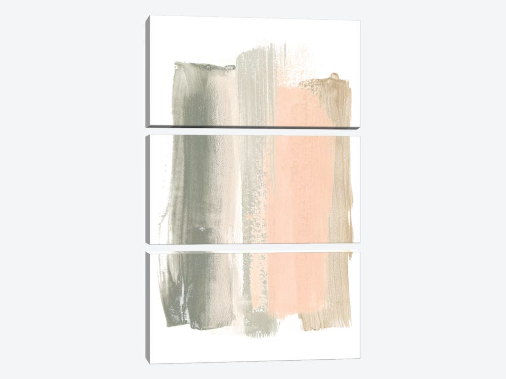 Blush Abstract VIII by June Erica Vess 3-piece Canvas Wall Art