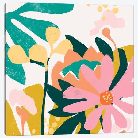 Cut Paper Garden I Canvas Print #JEV1500} by June Erica Vess Canvas Wall Art
