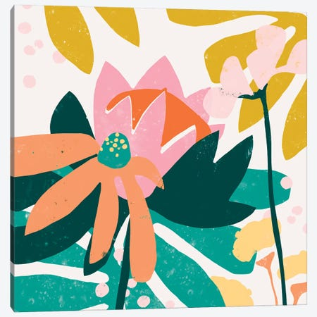 Cut Paper Garden II Canvas Print #JEV1501} by June Erica Vess Canvas Art