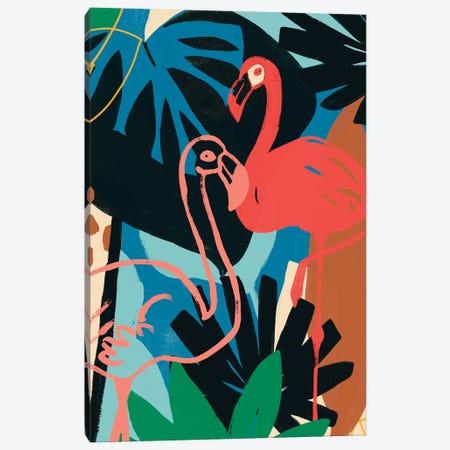 Funky Flamingo II Canvas Print #JEV1523} by June Erica Vess Canvas Art