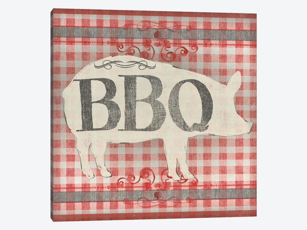 Gingham BBQ I by June Erica Vess 1-piece Art Print