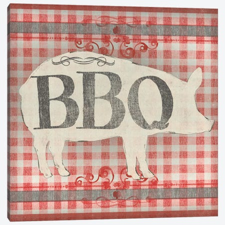 Gingham BBQ I Canvas Print #JEV1537} by June Erica Vess Canvas Wall Art