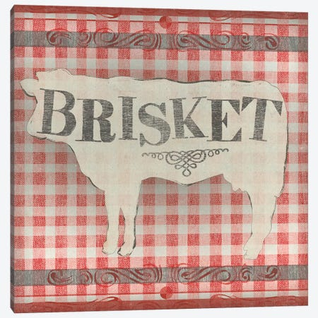 Gingham BBQ II 3-Piece Canvas #JEV1538} by June Erica Vess Art Print
