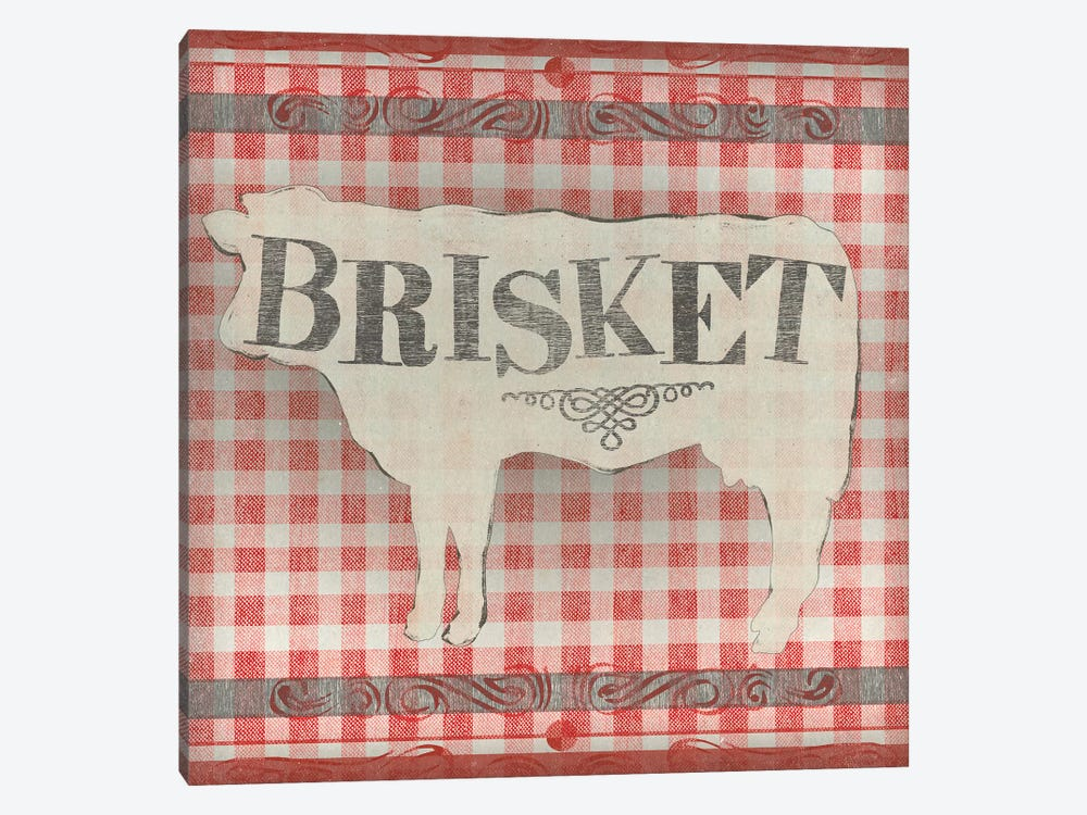 Gingham BBQ II by June Erica Vess 1-piece Canvas Wall Art