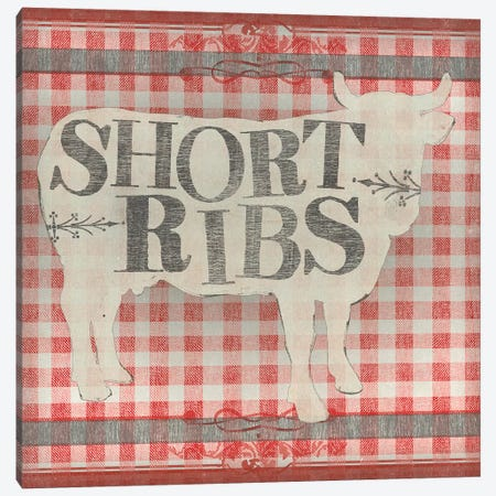 Gingham BBQ III 3-Piece Canvas #JEV1539} by June Erica Vess Art Print
