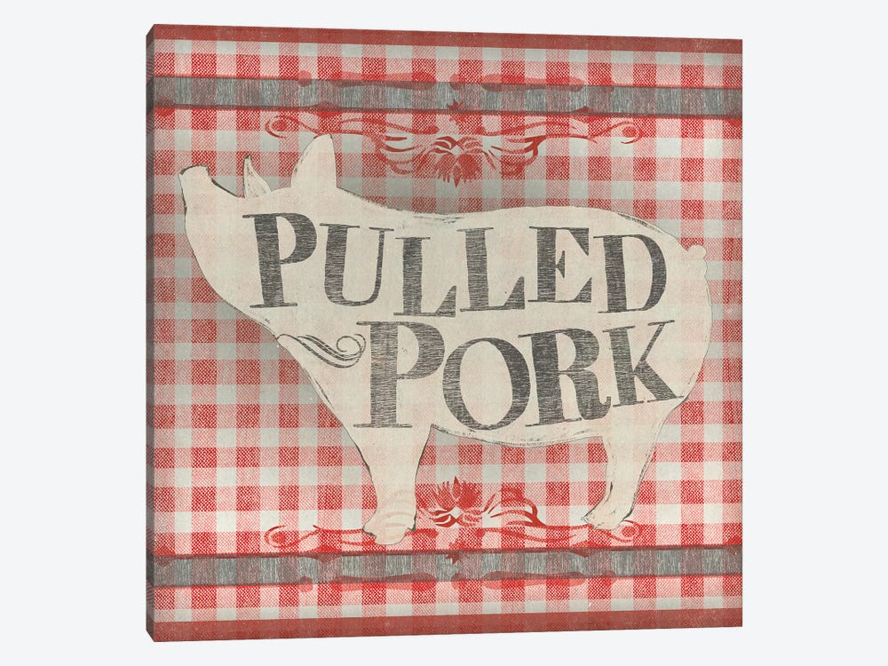 Gingham BBQ IV 1-piece Canvas Art Print