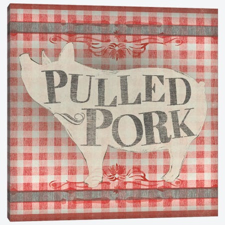 Gingham BBQ IV 3-Piece Canvas #JEV1540} by June Erica Vess Canvas Art