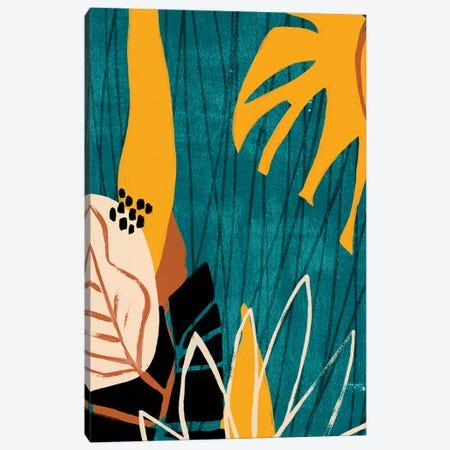Graphic Blue Lagoon I Canvas Print #JEV1545} by June Erica Vess Art Print