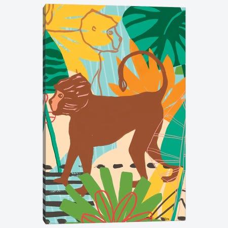 Graphic Jungle III Canvas Print #JEV1549} by June Erica Vess Canvas Artwork
