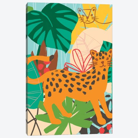 Graphic Jungle IV Canvas Print #JEV1550} by June Erica Vess Canvas Print