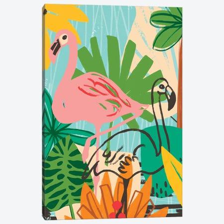 Graphic Jungle VI Canvas Print #JEV1552} by June Erica Vess Canvas Art Print