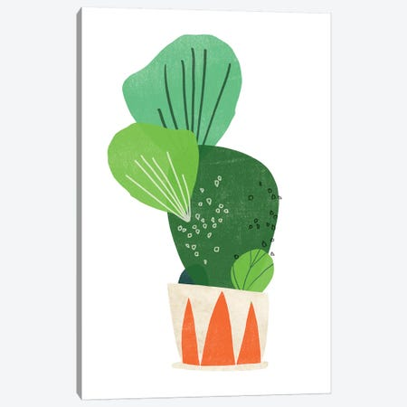 Happy Plants I Canvas Print #JEV1553} by June Erica Vess Art Print