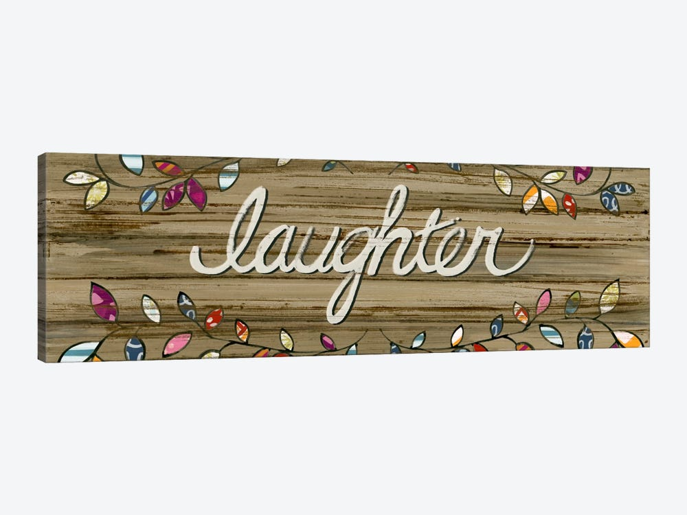 Love & Laughter I by June Erica Vess 1-piece Canvas Print