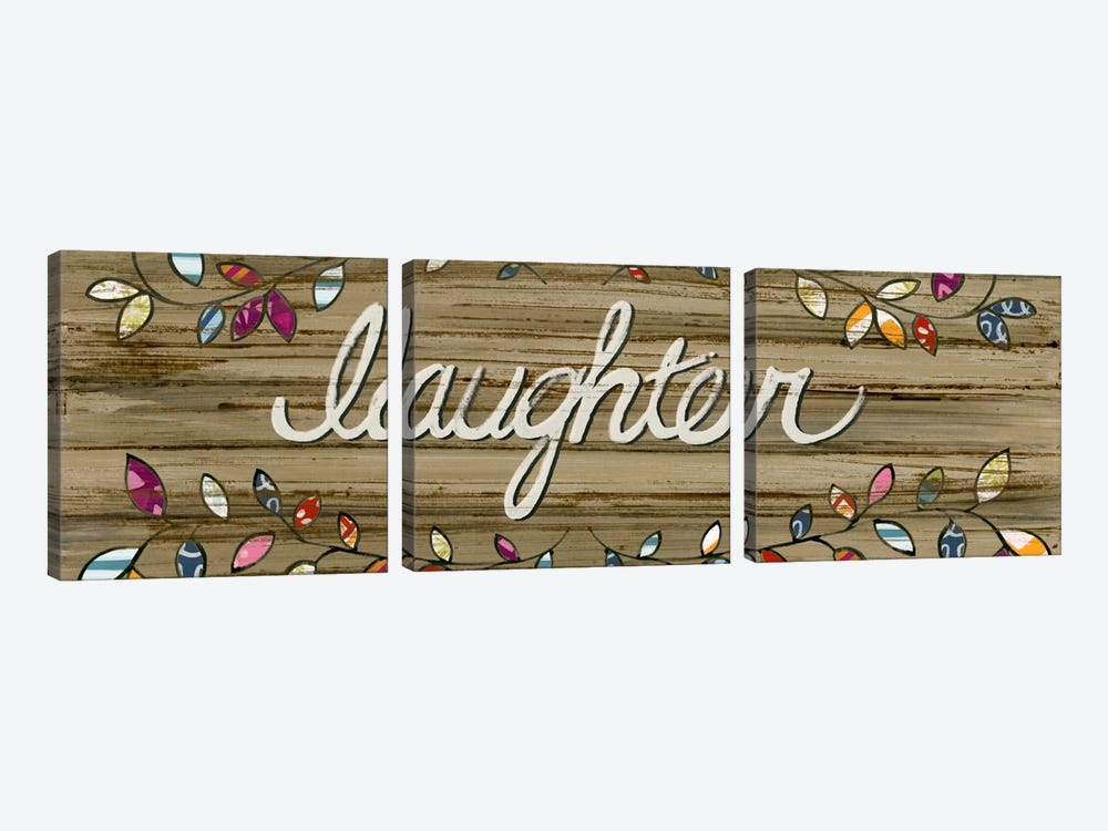 Love & Laughter I by June Erica Vess 3-piece Canvas Art Print