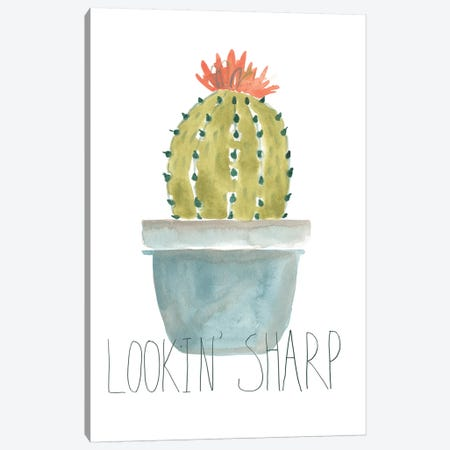 Punny Plant II Canvas Print #JEV1605} by June Erica Vess Canvas Wall Art
