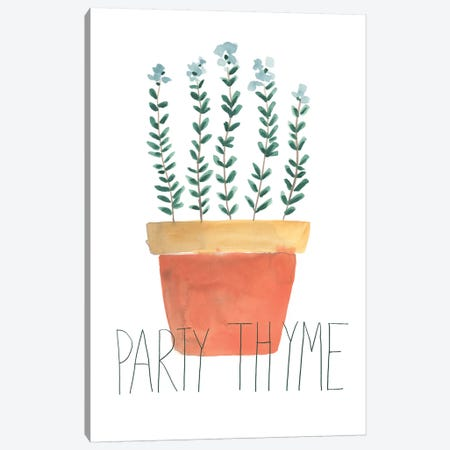 Punny Plant IV Canvas Print #JEV1607} by June Erica Vess Canvas Wall Art