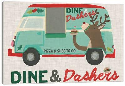 Food Truck Holidays I Canvas Art Print