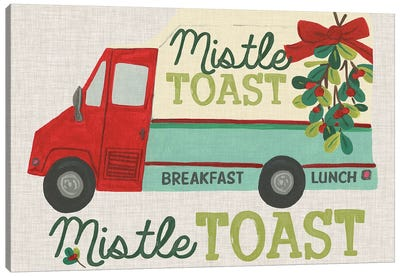 Food Truck Holidays III Canvas Art Print