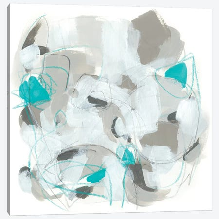 Blue Scramble II Canvas Print #JEV1678} by June Erica Vess Canvas Art
