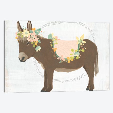 Dainty Burro I Canvas Print #JEV1697} by June Erica Vess Canvas Art Print