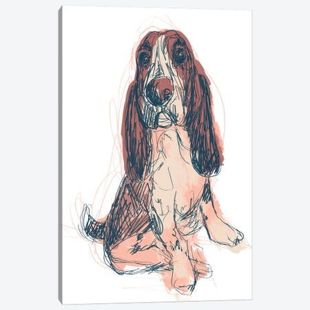 Dog Portrait--Ajax Canvas Print #JEV1703} by June Erica Vess Canvas Artwork