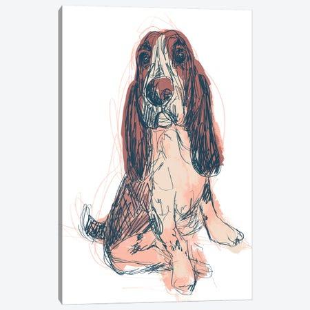 Dog Portrait--Ajax Canvas Print #JEV1703} by June Erica Vess Canvas Artwork