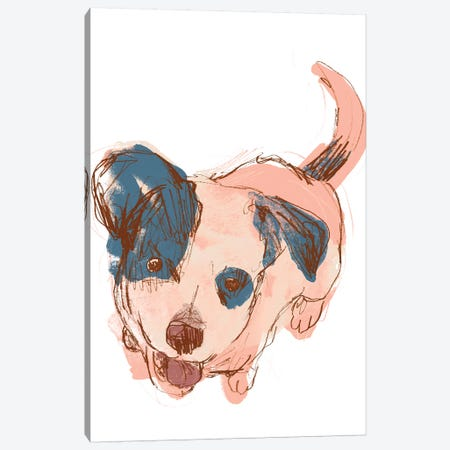 Dog Portrait--Maisie Canvas Print #JEV1706} by June Erica Vess Art Print