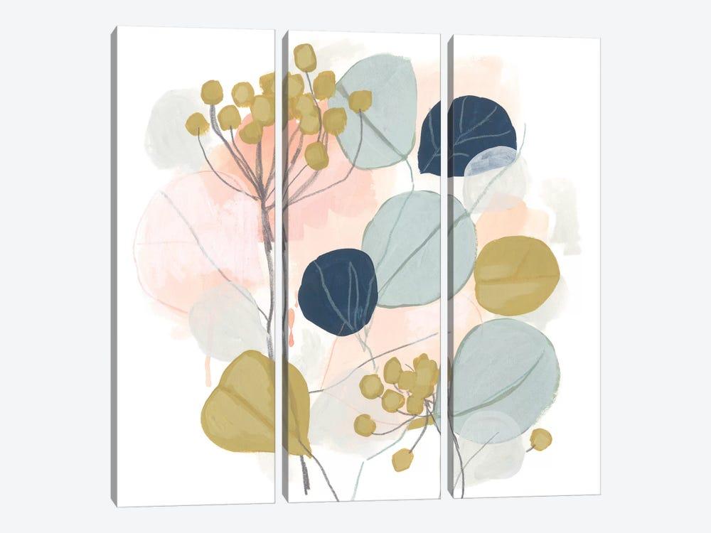 Floral Mazurka I by June Erica Vess 3-piece Canvas Artwork