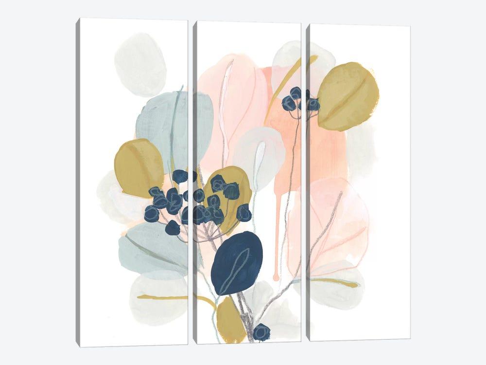 Floral Mazurka III by June Erica Vess 3-piece Canvas Art