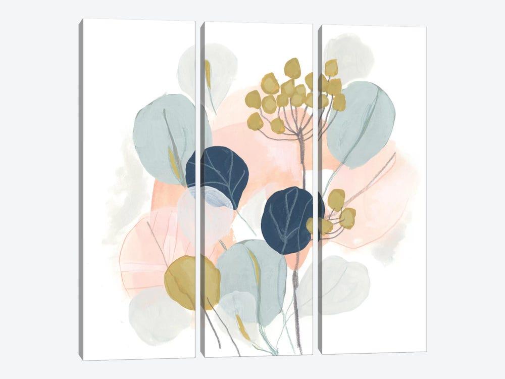Floral Mazurka IV by June Erica Vess 3-piece Canvas Art Print