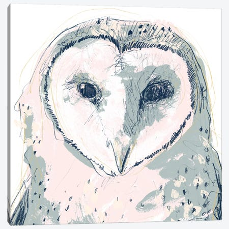 Funky Owl Portrait I Canvas Print #JEV1717} by June Erica Vess Canvas Artwork