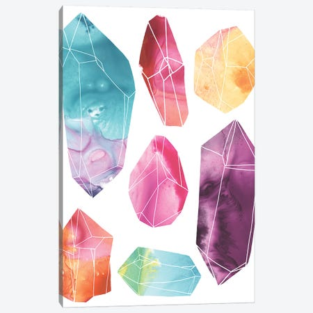Prism Crystals I Canvas Print #JEV1742} by June Erica Vess Canvas Artwork