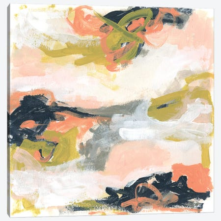 Blush & Navy Vista II Canvas Print #JEV1752} by June Erica Vess Canvas Art Print