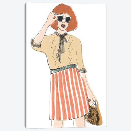 Fashion Vignette I Canvas Print #JEV1769} by June Erica Vess Canvas Wall Art