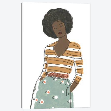 Fashion Vignette II Canvas Print #JEV1770} by June Erica Vess Art Print