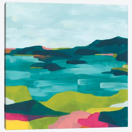 Kaleidoscope Coast I Canvas Print #JEV1773} by June Erica Vess Art Print