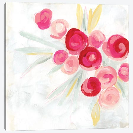 Rosebud Impression I Canvas Print #JEV1781} by June Erica Vess Canvas Art