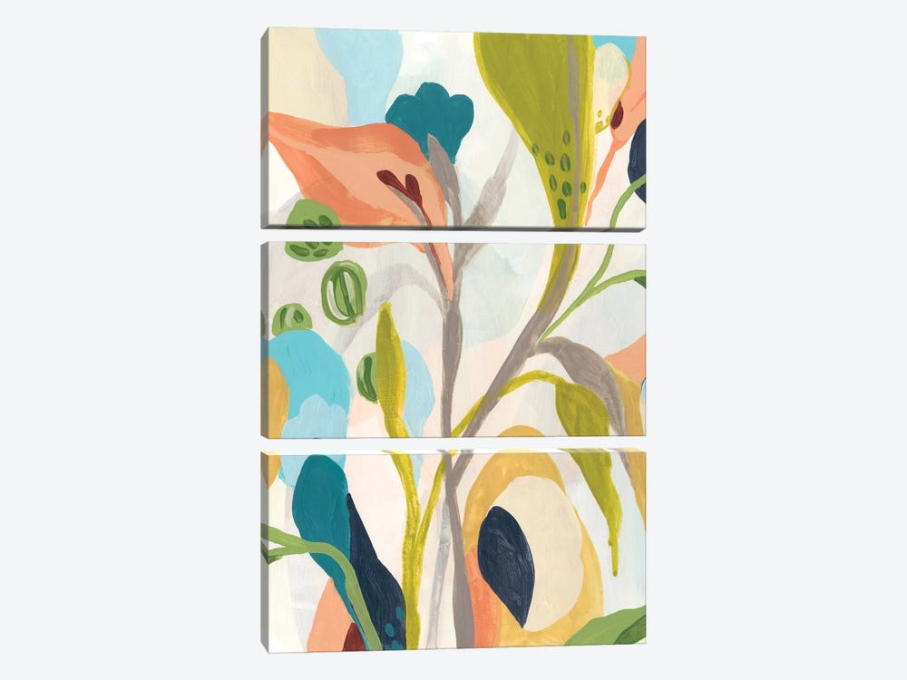 Jungle Jewels IV by June Erica Vess 3-piece Canvas Art Print