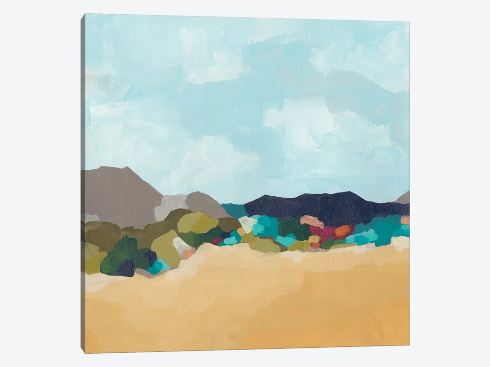Patchwork Hillside II 1-piece Canvas Art Print