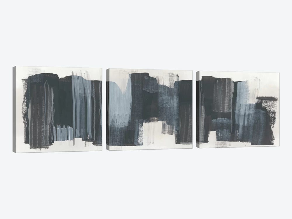 Monochrome Notation II by June Erica Vess 3-piece Canvas Art