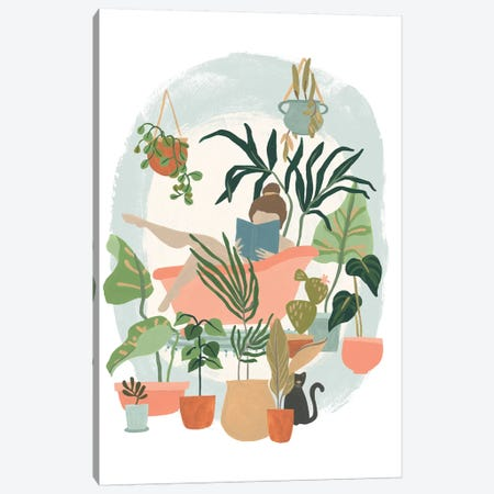 Plant Lady Bath I Canvas Print #JEV1835} by June Erica Vess Canvas Art Print