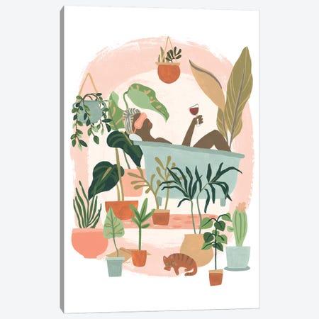 Plant Lady Bath II Canvas Print #JEV1836} by June Erica Vess Canvas Art Print