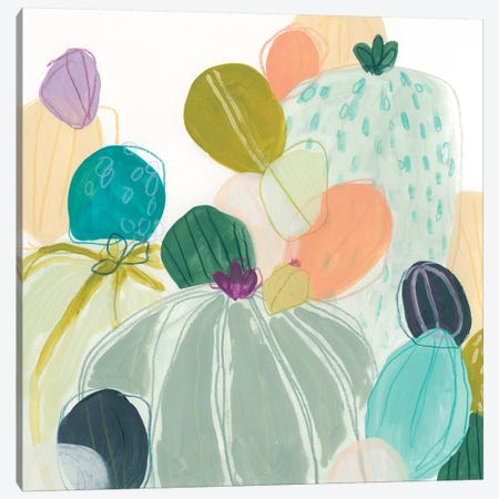 Candy Cactus I Canvas Print #JEV1837} by June Erica Vess Canvas Art Print