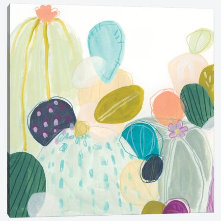 Candy Cactus II Canvas Print #JEV1838} by June Erica Vess Canvas Wall Art