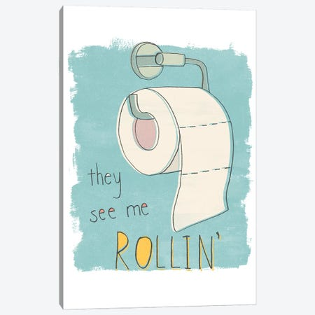 Potty Pun I Canvas Print #JEV1842} by June Erica Vess Canvas Art Print