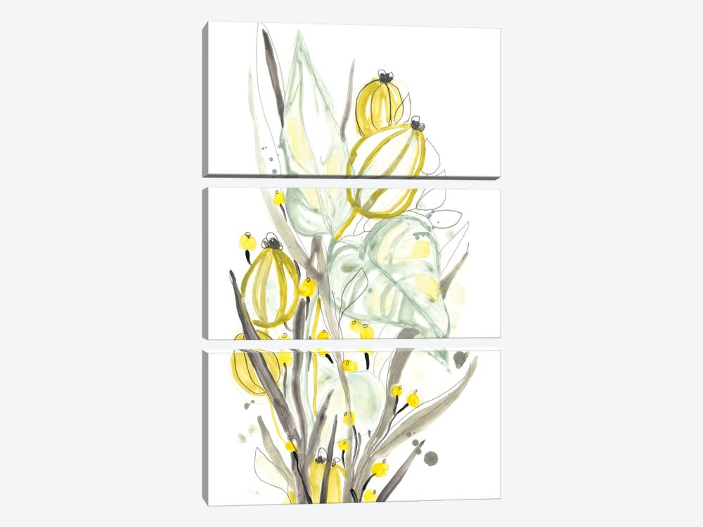 Ethereal Citron I by June Erica Vess 3-piece Canvas Artwork