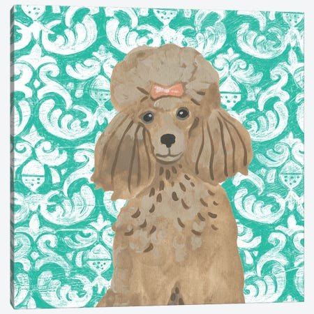 Parlor Pooches II Canvas Print #JEV1890} by June Erica Vess Canvas Artwork